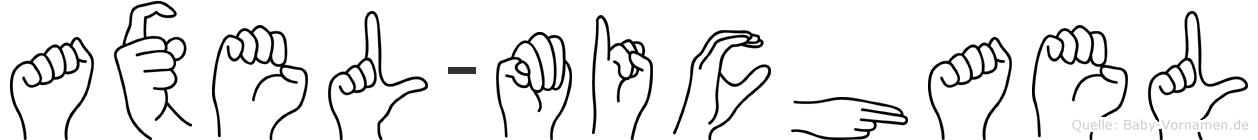 Axel-Michael im Fingeralphabet der Deutschen Gebärdensprache