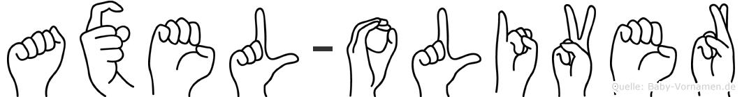 Axel-Oliver im Fingeralphabet der Deutschen Gebärdensprache