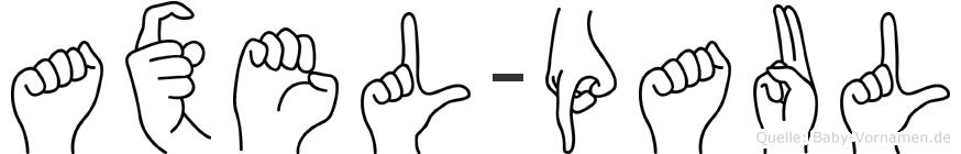 Axel-Paul im Fingeralphabet der Deutschen Gebärdensprache