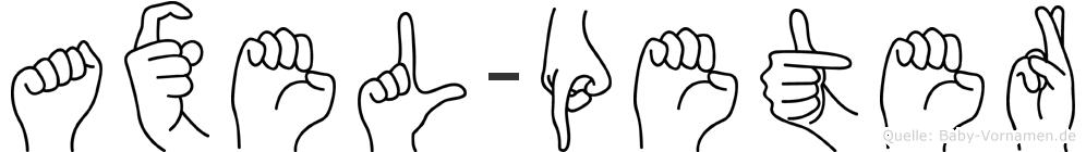 Axel-Peter im Fingeralphabet der Deutschen Gebärdensprache