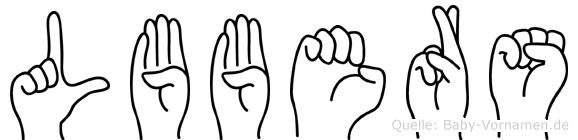 Lübbers im Fingeralphabet der Deutschen Gebärdensprache