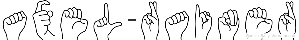 Axel-Rainer im Fingeralphabet der Deutschen Gebärdensprache