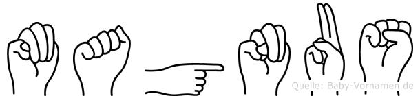 Magnus im Fingeralphabet der Deutschen Gebärdensprache
