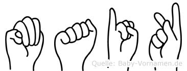 Maik im Fingeralphabet der Deutschen Gebärdensprache