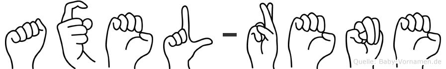 Axel-Rene im Fingeralphabet der Deutschen Gebärdensprache