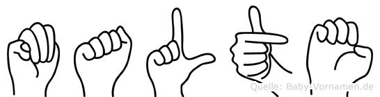 Malte in Fingersprache für Gehörlose