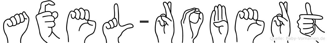 Axel-Robert im Fingeralphabet der Deutschen Gebärdensprache