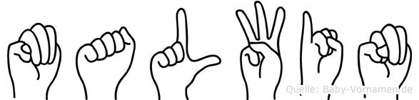 Malwin im Fingeralphabet der Deutschen Gebärdensprache