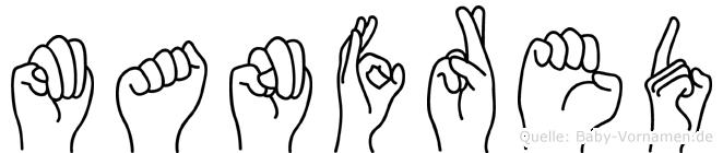 Manfred im Fingeralphabet der Deutschen Gebärdensprache
