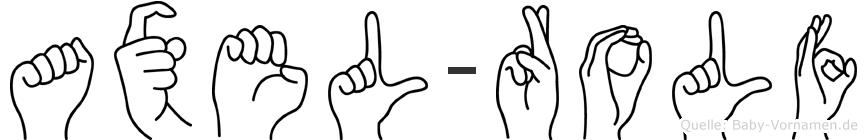 Axel-Rolf im Fingeralphabet der Deutschen Gebärdensprache