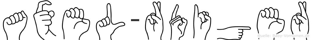 Axel-Rüdiger im Fingeralphabet der Deutschen Gebärdensprache