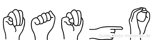 Mango im Fingeralphabet der Deutschen Gebärdensprache
