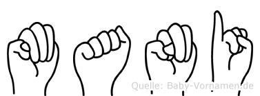 Mani in Fingersprache für Gehörlose