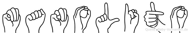 Manolito im Fingeralphabet der Deutschen Gebärdensprache