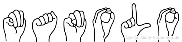 Manolo im Fingeralphabet der Deutschen Gebärdensprache