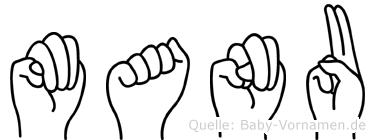 Manu in Fingersprache für Gehörlose