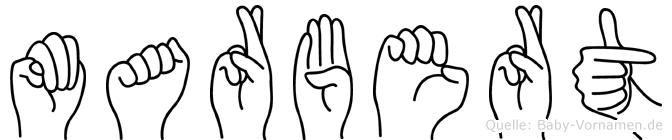 Marbert in Fingersprache für Gehörlose
