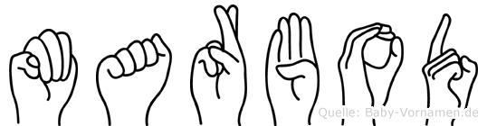 Marbod im Fingeralphabet der Deutschen Gebärdensprache