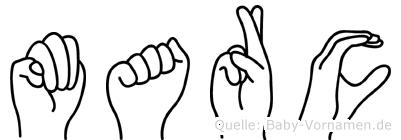Marc in Fingersprache für Gehörlose