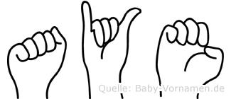 Aye in Fingersprache für Gehörlose
