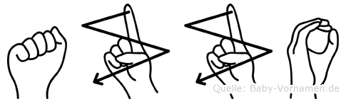 Azzo in Fingersprache f�r Geh�rlose