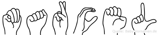 Marcel in Fingersprache für Gehörlose