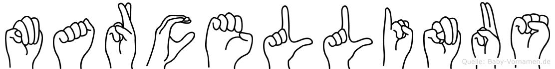 Marcellinus im Fingeralphabet der Deutschen Gebärdensprache
