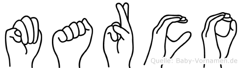 Marco in Fingersprache für Gehörlose