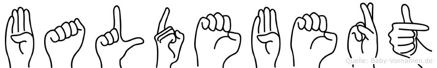 Baldebert in Fingersprache für Gehörlose