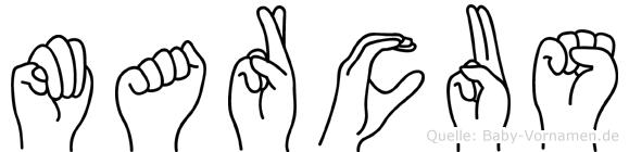 Marcus in Fingersprache für Gehörlose