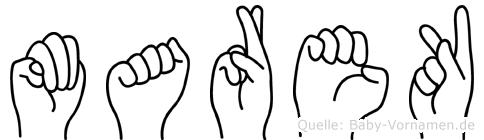 Marek im Fingeralphabet der Deutschen Gebärdensprache