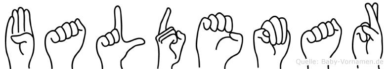 Baldemar in Fingersprache für Gehörlose