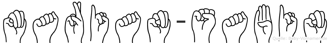 Marian-Sabin im Fingeralphabet der Deutschen Gebärdensprache
