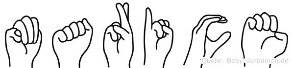 Marice in Fingersprache für Gehörlose
