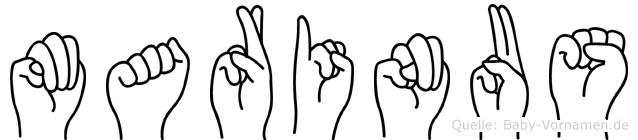 Marinus in Fingersprache für Gehörlose