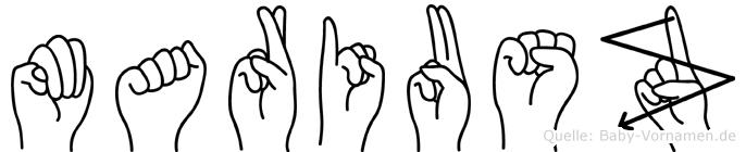 Mariusz in Fingersprache für Gehörlose