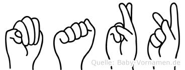 Mark in Fingersprache für Gehörlose