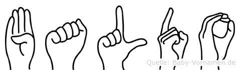 Baldo im Fingeralphabet der Deutschen Gebärdensprache