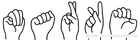 Marke in Fingersprache für Gehörlose