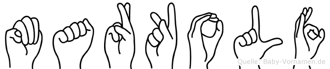 Markolf in Fingersprache für Gehörlose