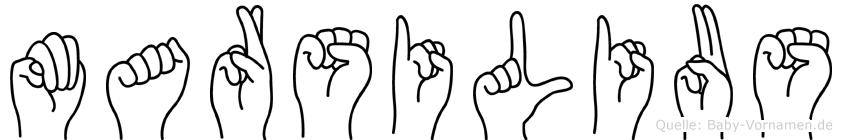 Marsilius in Fingersprache für Gehörlose