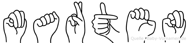 Marten im Fingeralphabet der Deutschen Gebärdensprache