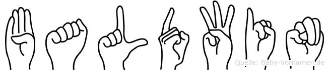Baldwin in Fingersprache für Gehörlose