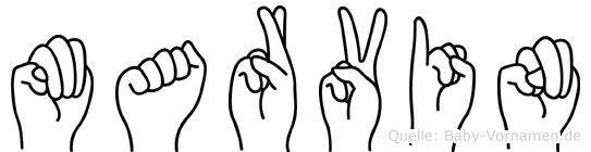 Marvin in Fingersprache für Gehörlose