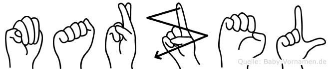 Marzel im Fingeralphabet der Deutschen Gebärdensprache