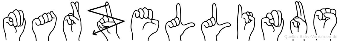 Marzellinus in Fingersprache für Gehörlose