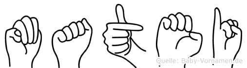 Matei in Fingersprache für Gehörlose