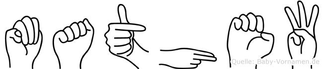 Mathew im Fingeralphabet der Deutschen Gebärdensprache