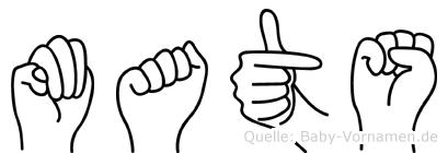 Mats in Fingersprache für Gehörlose