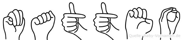 Matteo in Fingersprache für Gehörlose